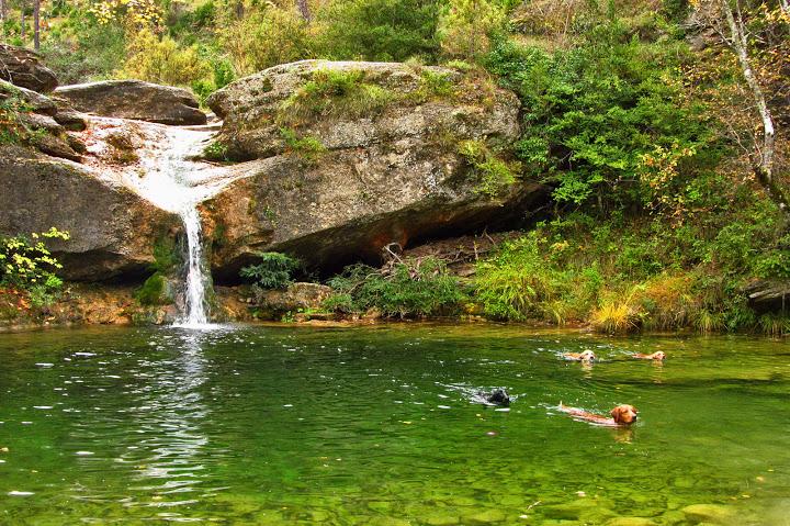Uno de los saltos de agua que podemos ver en el Itinerari de los 7 gorgs Fuente de la imagen: quedadasperrunas.com